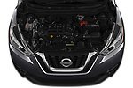 Car stock 2019 Nissan Kicks SV 5 Door SUV engine high angle detail view