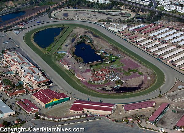 aerial photograph of the Del Mar Racetrack,  Del Mar, San Diego County, California