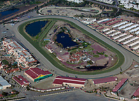 aerial photograph of the Del Mar Racetrack,  Del Mar, San Diego County, California