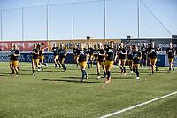 HERRIMAN, UT - JULY 4: Utah Royals FC warms up during a game between Sky Blue FC and Utah Royals FC at Zions Bank Stadium on July 4, 2020 in Herriman, Utah.