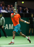 Rotterdam, The Netherlands, Februari 9, 2016,  ABNAMROWTT, Gael Monfils (FRA)<br /> Photo: Tennisimages/Henk Koster