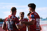 5th September 2020; Kingsholm Stadium, Gloucester, Gloucestershire, England; English Premiership Rugby, Gloucester versus London Irish; Louis Rees-Zammit of Gloucester celebrates scoring a try