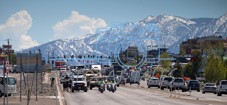 run the baton to Nevada Law Enforcement Memorial in downtown Carson City, Nev., on Wednesday, May 3, 2017.<br /> Photo by Cathleen Allison/Nevada Photo Source
