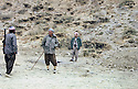Irak 1981 <br /> On the road from Warte to Rajan, Masoud Barzani with Rais Abdalla , former officer of the Iraqi army <br /> Irak 1981 <br /> Sur la route de Warte a Rajan, Masoud Barzani avec Rais Abdalla , ex-officier de l'armee irakienne