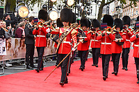 "Band of the Irish Guards<br /> arriving for the World Premiere of ""Goodbye Christopher Robin"" at the Odeon Leicester Square, London<br /> <br /> <br /> ©Ash Knotek  D3311  20/09/2017"