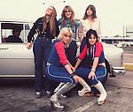 Runaways 1976 Lita Ford, Sandy West, Jackie Fox, Cherie Currie, Joan Jett..© Chris Walter..