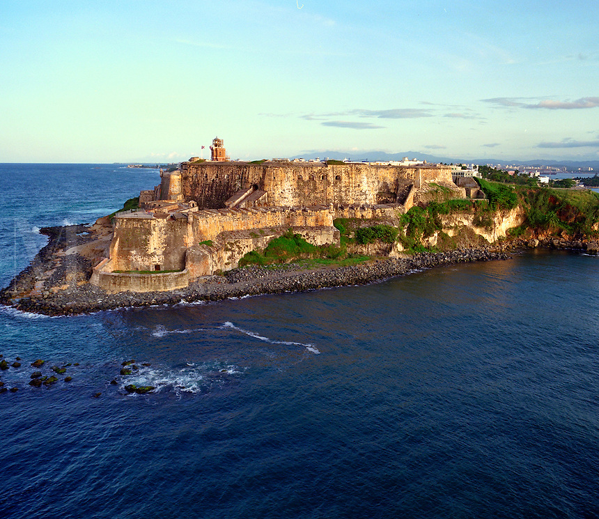 El Morro Spanish fort on the tip of the Old San Juan peninsula, Puerto Rico. Old San Juan Puerto Rico United States Caribbean.