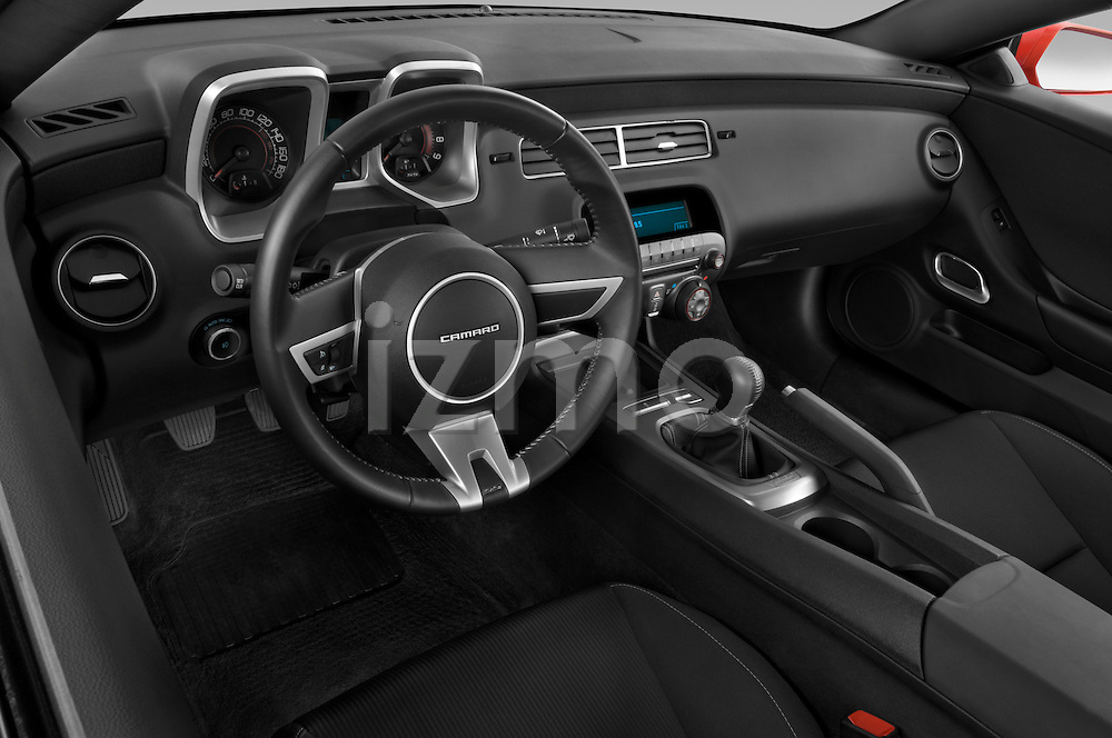 High angle dashboard view of a 2010 Chevrolet Camaro SS