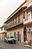 Senegal, Saint Louis.  Jamm, a Boutique Hotel.  Restored Colonial Architecture.