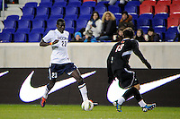 Mamadou Doudou Diouf (23) of the Connecticut Huskies. Connecticut defeated Louisville 1-0 during the first semifinal match of the Big East Men's Soccer Championships at Red Bull Arena in Harrison, NJ, on November 11, 2011.