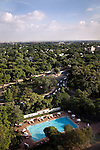 June 21 2012, New Delhi, India:  An aerial view of New Delhi from the Taj Mahal hotel showing the city's surprising amount of greenery that can often be overlooked from the street level.        Picture by Graham Crouch/Holland Herald