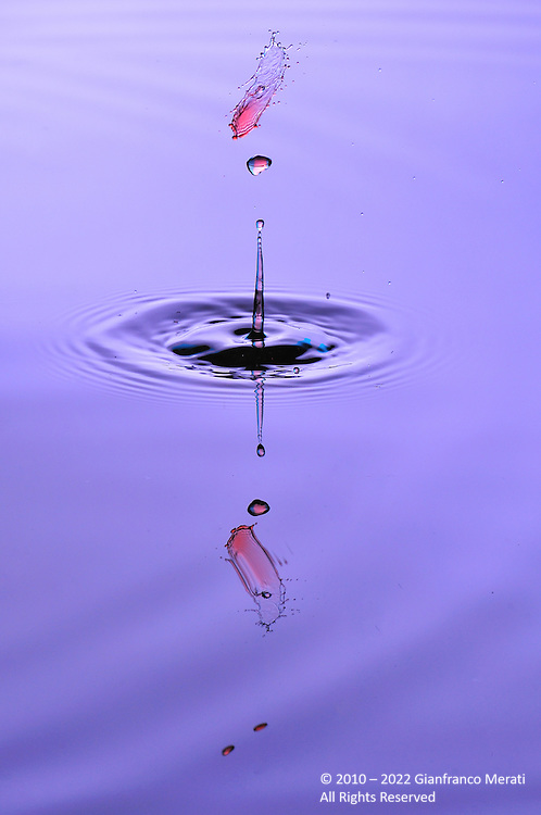 Water droplets collisions