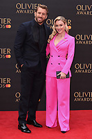 Chris Robshaw and Camilla Kerslake<br /> arriving for the Olivier Awards 2019 at the Royal Albert Hall, London<br /> <br /> ©Ash Knotek  D3492  07/04/2019