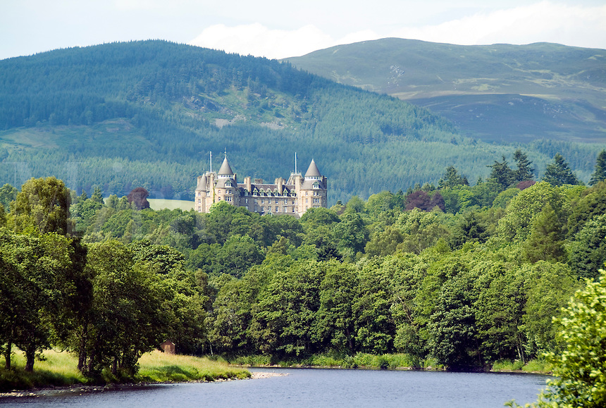 Scottish Castle now the exclusive Atholl Palace Hotel in Pitlochry, Scotland