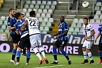 Stefan de Vrij of FC Internazionale scores the goal of 1-1 during the Serie A football match between Parma and FC Internazionale at stadio Ennio Tardini in Parma ( Italy ), June 28th, 2020. Play resumes behind closed doors following the outbreak of the coronavirus disease. <br /> Photo Andrea Staccioli / Insidefoto