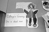Child's drawing, Julian's Primary School, Streatham, London.  1971.