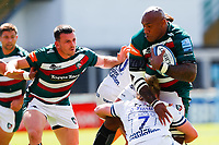 5th June 2021; Mattioli Woods Welford Road Stadium, Leicester, Midlands, England; Gallagher Premiership Rugby, Leicester Tigers versus Bristol Bears; Nemani Nadolo of Leicester Tigers is tackled by Dan Thomas of Bristol Bears