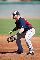 Cleveland Indians Gavin Collins (30) during an Instructional League game against the Los Angeles Dodgers on October 10, 2016 at the Camelback Ranch Complex in Glendale, Arizona.  (Mike Janes/Four Seam Images)
