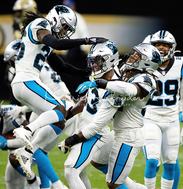Photography of the Carolina Panthers v. The New Orleans Saints, during their Sunday afternoon NFL game at the Mercedes-Benz Superdome.<br /> <br /> <br /> Charlotte Photographer - PatrickSchneiderPhoto.com