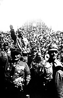 Hitler at Nazi Party rally, Nuremberg, Germany, ca.  1928.  Heinrich Hoffman Collection.  (Foreign Records Seized)<br /> Exact Date Shot Unknown<br /> NARA FILE #:  242-HAP-1928-46<br /> WAR & CONFLICT BOOK #:  981