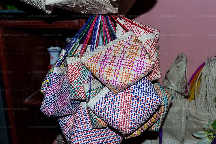 Sampaloc buri weaver Shierly Encina welcomed me into her home -- which is always full of buri bag products being assembled for shipment to our American buyers.
