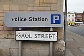Sign for Police Station in Gaol Street, Hereford.