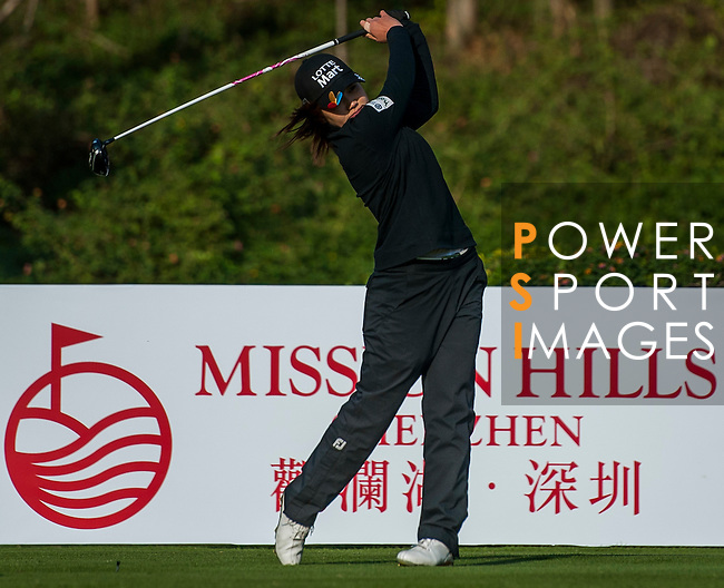 Su Yeon Jang of Korea in action during the Hyundai China Ladies Open 2014 on December 13 2014, in Shenzhen, China. Photo by Xaume Olleros / Power Sport Images
