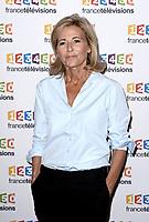 Photocall de la conference de presse de France Télévisions - Claire Chazal