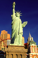 Las Vegas, Statue of Liberty, casino, Nevada, NV, The Strip, Replica of the Statue of Liberty at New-York New-York Hotel & Casino on The Strip in Las Vegas, the Entertainment Capital of the World.