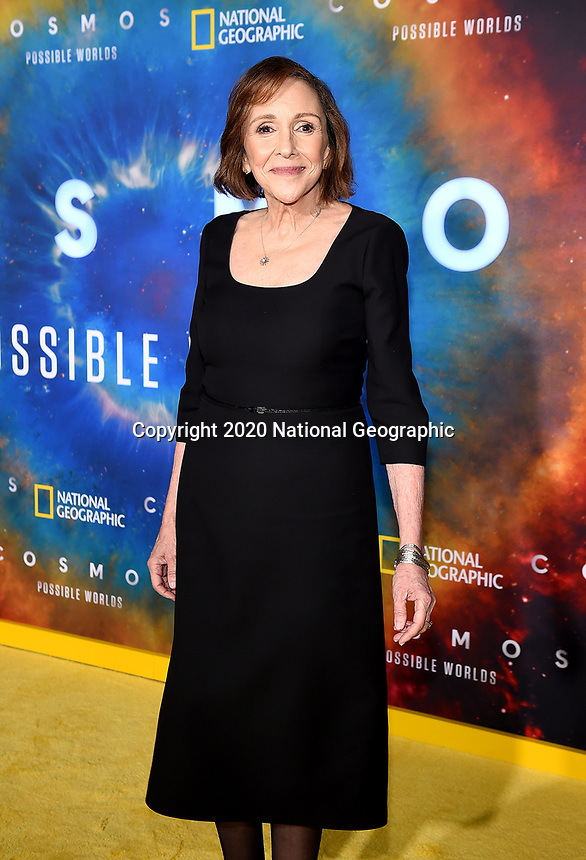"""LOS ANGELES - FEBRUARY 26: Ann Druyan attends National Geographic's 2020 Los Angeles premiere of """"Cosmos: Possible Worlds"""" at Royce Hall on February 26, 2020 in Los Angeles, California. Cosmos: Possible Worlds premieres Monday, March 9 at 8/7c on National Geographic. (Photo by Frank Micelotta/National Geographic/PictureGroup)"""