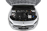 Car Stock 2019 Mercedes Benz A-Class - 4 Door Sedan Engine  high angle detail view