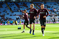 Connor Roberts of Swansea City during the pre-match warm-up for the Sky Bet Championship match between Aston Villa and Swansea City at Villa Park in Birmingham, England, UK.  Saturday 20 October  2018