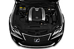Car stock 2019 Lexus RC RC 300h Executive 2 Door Coupe engine high angle detail view