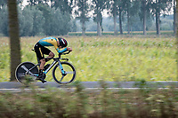 Yevgeniy Fedorov (KAZ/Astana)<br /> <br /> World Championships U23 Men - ITT <br /> Time Trial from Knokke-Heist to Bruges (30.3km)<br /> <br /> UCI Road World Championships - Flanders Belgium 2021<br /> <br /> ©kramon