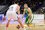 Real Madrid's player Gustavo Ayon and Unics Kazan's player Quino Colom during match of Turkish Airlines Euroleague at Barclaycard Center in Madrid. November 24, Spain. 2016. (ALTERPHOTOS/BorjaB.Hojas)
