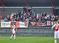 RSC Anderlecht Dames - Ajax Amsterdam : Meegereisde Ajax supporters.foto DAVID CATRY / Nikonpro.be