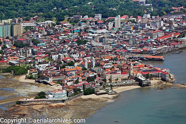 aerial photograph of Casco Viejo, San Felipe, the historic district of Panama City, Panama | fotografía aérea del Casco Viejo, San Felipe, el distrito histórico de Panamá