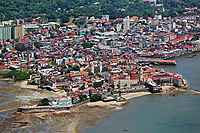 aerial photograph of Casco Viejo, San Felipe, the historic district of Panama City, Panama | fotografía aérea del Casco Viejo, San Felipe, el distrito histórico de Panamá