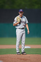 Mahoning Valley Scrappers relief pitcher Michael Hendrickson (36) looks in for the sign during the second game of a doubleheader against the Auburn Doubledays on July 2, 2017 at Falcon Park in Auburn, New York.  Mahoning Valley defeated Auburn 3-2.  (Mike Janes/Four Seam Images)