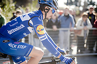 first-time attendee Julian ALAPHILIPPE (FRA/Deceuninck-Quick Step) pre-race<br /> <br /> 13th Strade Bianche 2019 (1.UWT)<br /> One day race from Siena to Siena (184km)<br /> <br /> ©kramon
