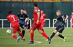 11.01.2020 Rangers v Lokomotiv Tashkent, Sevens Stadium, Dubai:<br /> Steven Davis scores goal no 3