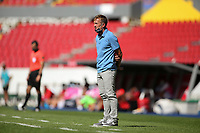 GUADALAJARA, MEXICO - MARCH 18: United States U23 head coach Jason Kreis during a game between Costa Rica and USMNT U-23 at Estadio Jalisco on March 18, 2021 in Guadalajara, Mexico.