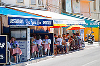 Restaurant Le Grand Bleu and Chez Francine. Bouzigues Languedoc. France. Europe.