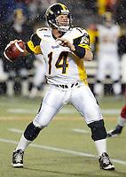 Danny McManus Hamilton Tiger Cats quarterback. Copyright photograph Scott Grant