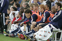13 November 2005:  New England Revolution's players feel disappointing before losing the MLS cup game to LA Galaxy at Pizza Hut Park in Frisco, Texas.   Los Angeles Galaxy defeated New England Revolution, 1-0 to win MLS Cup 2005.
