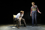 THE PILLOWMAN by Martin McDonagh<br /> The National Theatre 11/03<br /> DAVID TENNANT as Katurian / ADAM<br /> <br /> GODLEY as Michal <br /> Director: John Crowley<br /> Designer: Scott Pask <br /> Credit: Pete Jones / Performing Arts Images <br />  <br />  <br /> www.performingartsimages.com<br /> ***Educational Licence Use Only under Performing Arts Images Subscription Service.*** None of these images can be used commercially without prior written permission. ***Contact office@performingartsimages.com for details***
