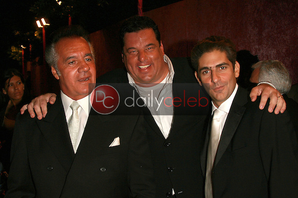 Tony Sirico with Steve Schirripa and Michael Imperioli<br />at the 2006 HBO Emmy After Party. Pacific Design Center, West Hollywood, CA. 08-27-06<br />Dave Edwards/DailyCeleb.com 818-249-4998