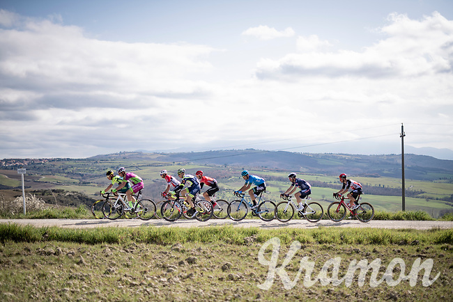 the breakaway group<br /> <br /> 15th Strade Bianche 2021<br /> ME (1.UWT)<br /> 1 day race from Siena to Siena (ITA/184km)<br /> <br /> ©kramon