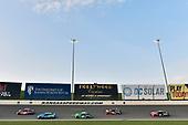 #11: Denny Hamlin, Joe Gibbs Racing, Toyota Camry FedEx Freight and #10: Aric Almirola, Stewart-Haas Racing, Ford Fusion Smithfield