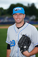 Hudson Valley Renegades pitcher Brandon Lawson (29) poses for a photo before a game against the Batavia Muckdogs on July 31, 2016 at Dwyer Stadium in Batavia, New York.  Hudson Valley defeated Batavia 4-1.  (Mike Janes/Four Seam Images)